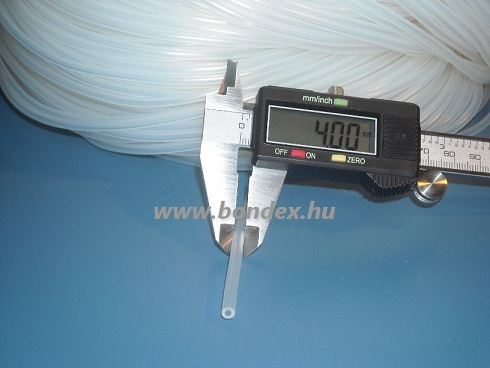 2x4 mm élelmiszeripari minőségű szilikon cső