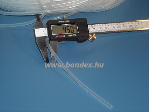 2,5x4,5 mm élelmiszeripari minőségű szilikon cső