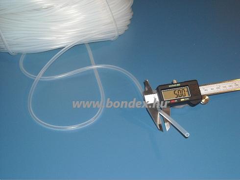 3x5 mm élelmiszeripari minőségű szilikon cső