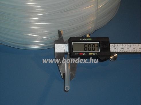 3x6 mm élelmiszeripari minőségű szilikon cső