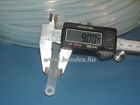 3x9 mm élelmiszeripari minőségű szilikon cső