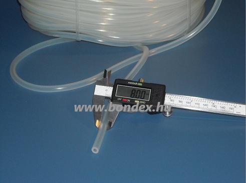5x8 mm élelmiszeripari minőségű szilikon cső
