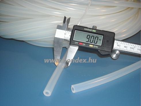 5x9 mm élelmiszeripari minőségű szilikon cső