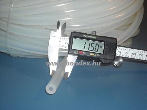 5x11,5 mm élelmiszeripari minőségű szilikon cső
