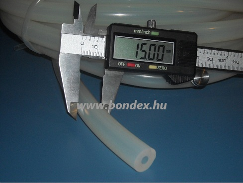 5x15 mm élelmiszeripari minőségű szilikon cső