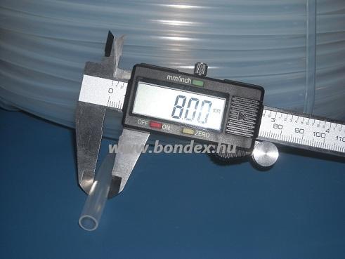 7x8 mm élelmiszeripari minőségű szilikon cső