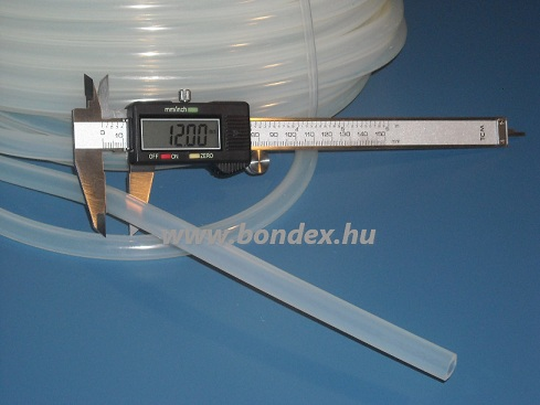 7x12 mm élelmiszeripari minőségű szilikon cső
