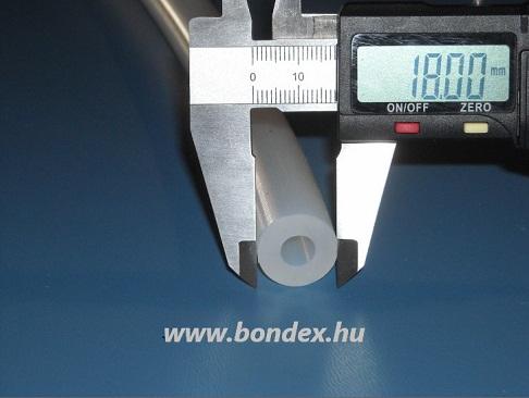 8x18 mm élelmiszeripari minőségű szilikon cső