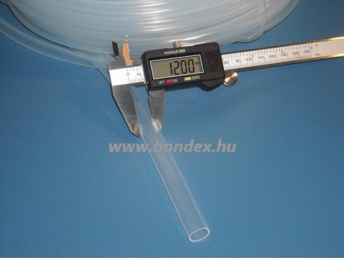 10x12 mm élelmiszeripari minőségű szilikon cső