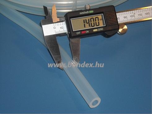 10x14 mm élelmiszeripari minőségű szilikon cső