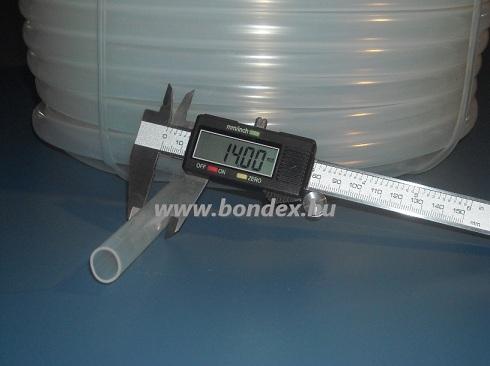 12x14 mm élelmiszeripari minőségű szilikon cső