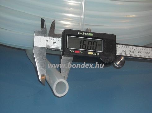 12x16 mm élelmiszeripari minőségű szilikon cső