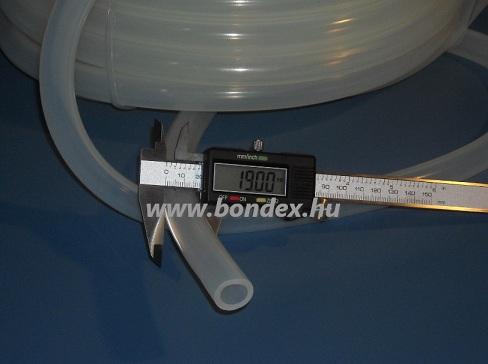13x19 mm élelmiszeripari minőségű szilikon cső