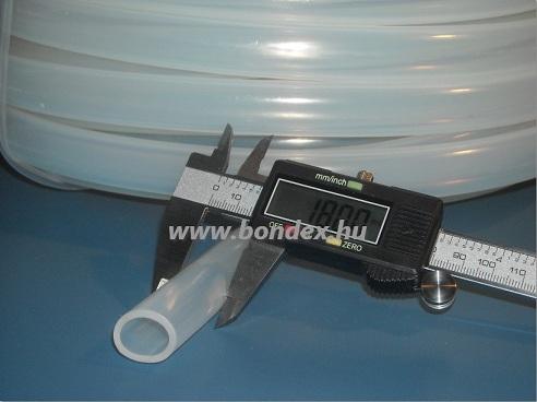 14x18 mm élelmiszeripari minőségű szilikon cső