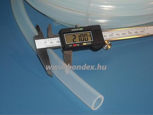 15x21 mm élelmiszeripari minőségű szilikon cső
