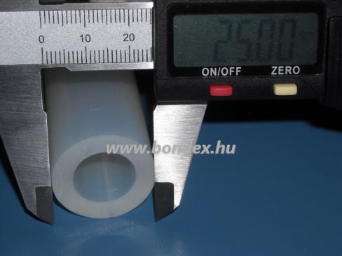 15x25 mm élelmiszeripari minőségű szilikon cső