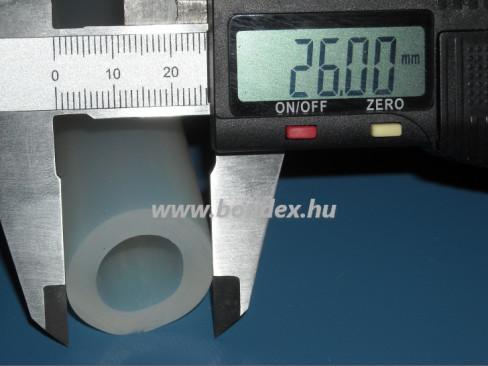 16x26 mm élelmiszeripari minőségű szilikon cső