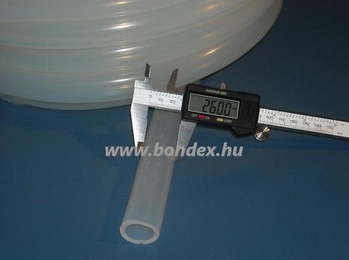 19x26 mm élelmiszeripari minőségű szilikon cső