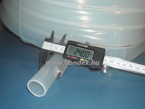 20x24 mm élelmiszeripari minőségű szilikon cső