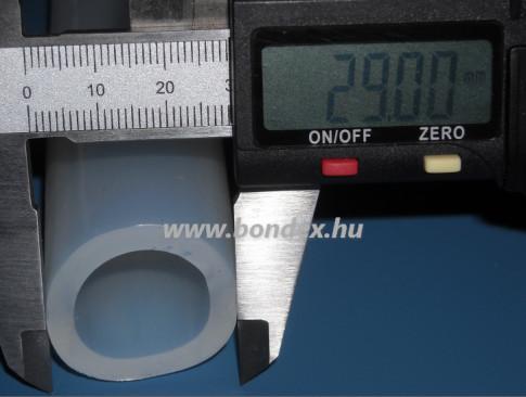 22x29 mm élelmiszeripari minőségű szilikon cső