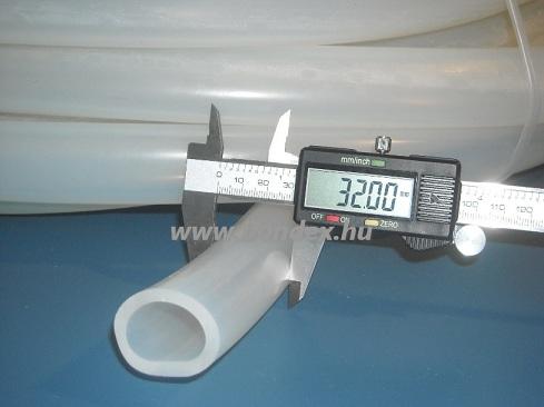 26x32 mm élelmiszeripari minőségű szilikon cső