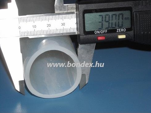 34x39 mm élelmiszeripari minőségű szilikon cső