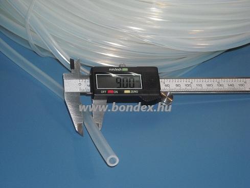7x9 mm egészségügyi minőségű szilikon cső
