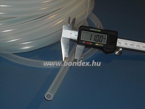 7x11 mm egészségügyi minőségű szilikon cső