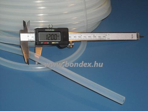 7x12 mm egészségügyi minőségű szilikon cső
