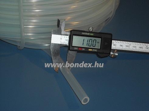 8x11 mm egészségügyi minőségű szilikon cső