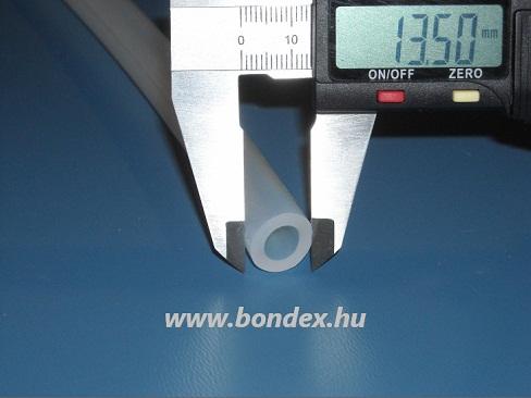 8x13,5 mm egészségügyi minőségű szilikon cső