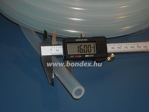 10x16 mm gyógyszeripari minőségű szilikon cső