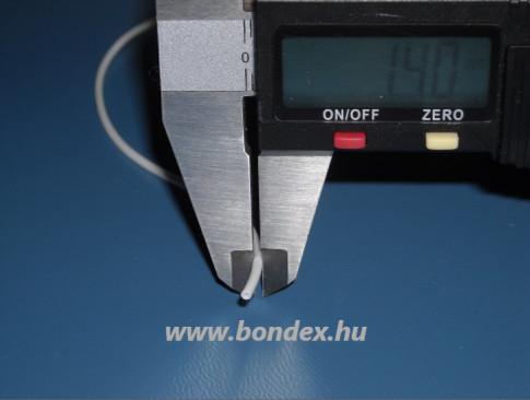 ø 0,5 x 1,4 mm szilikon cső (fehér szigetelő cső)