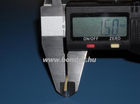 ø 0,5x1,5 mm szilikon cső sárga (elektromos izoláló)