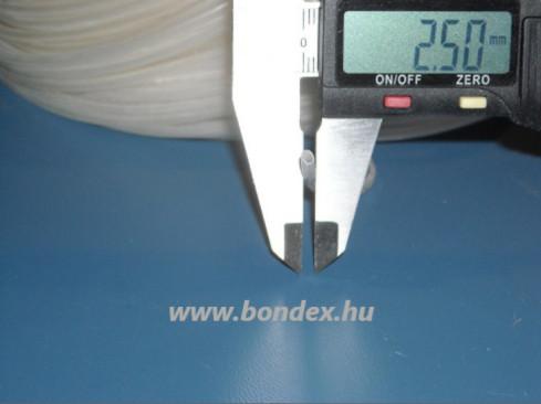 ø 2x2,5 mm szilikon cső (izoláló - szigetelő)