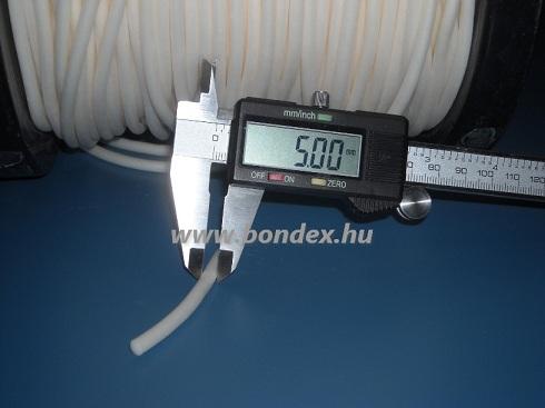 5 mm habosított szilikon zsinór