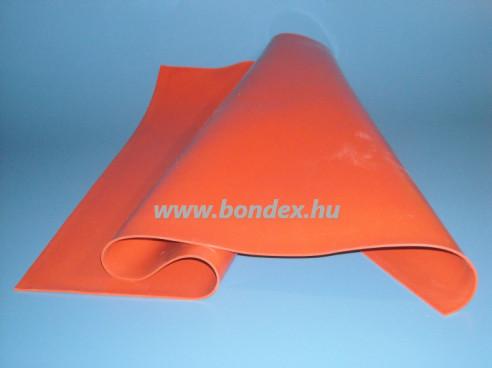 600x800x2 mm piros szilikon lemez (hőálló oxidvörös)