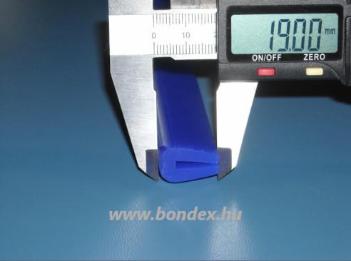 3mm-es szilikon élvédő ( kék U profil )
