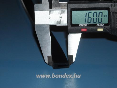 2mm-es szilikon élvédő ( fekete U profil )