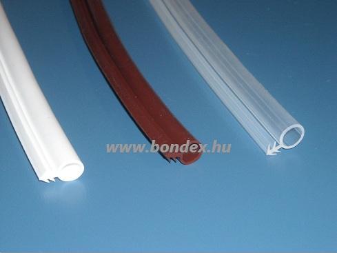 10 mm-es bemarásos ajtótömítés (  szilikon szigetelő gumi )
