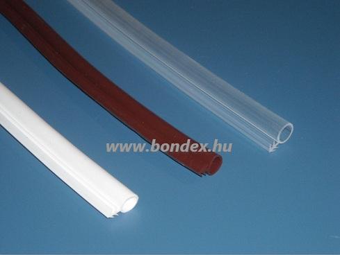 8 mm -es nútba építhető ajtótömítő gumi (  szilikon O profil )