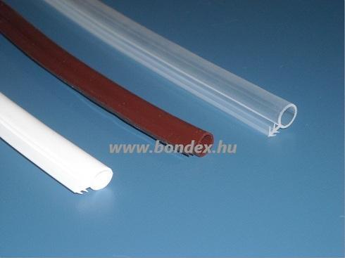 12 mm -es nútba építhető ajtótömítő gumi (  szilikongumi O profil )