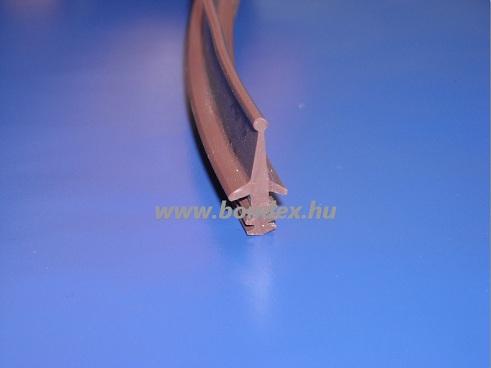 Nútba építhető küszöbrés tömítő szilikon profil