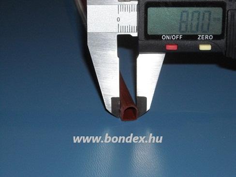 Ragasztható ablaktömítés ( barna D profil )