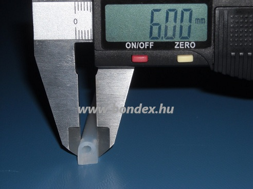 """Ablak tömítő szilikon """"D"""" profil 6 mm"""