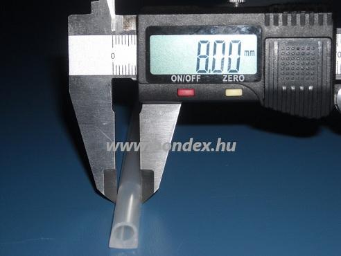 Ablak tömítő szilikongumi D profil 8 mm