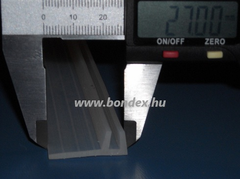 Zuhanyfülke és gőzkabin ajtó tömítő szilikon élvédő 4x10 mm