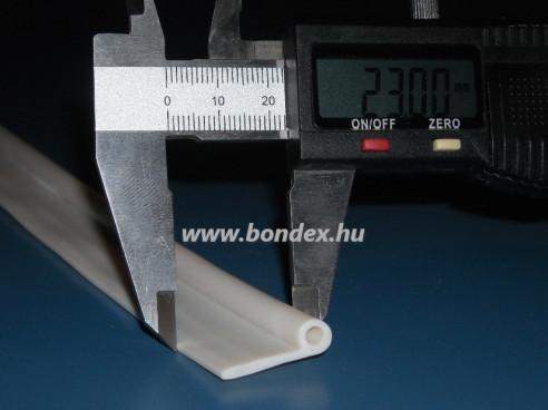 Nyílászáró tömítés - szilikon P profil ( 4x6 mm )