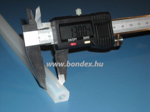 Szilikon D profil 6mm-es furattal (nyílászáró tömítés)