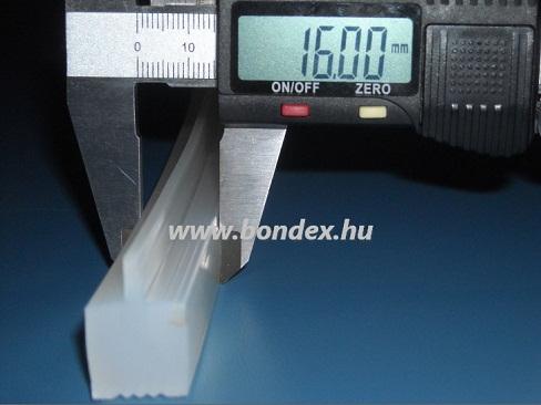 Nagy hőállóságú kemenceajtó tömítés (nútba építhető profil)